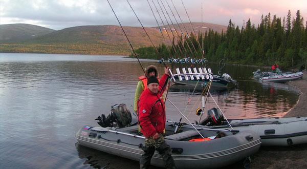 Ловля на троллинг с надувной лодки