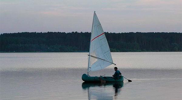 Установка паруса на надувную лодку